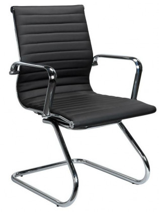 Nova Black Leather Guest Chair