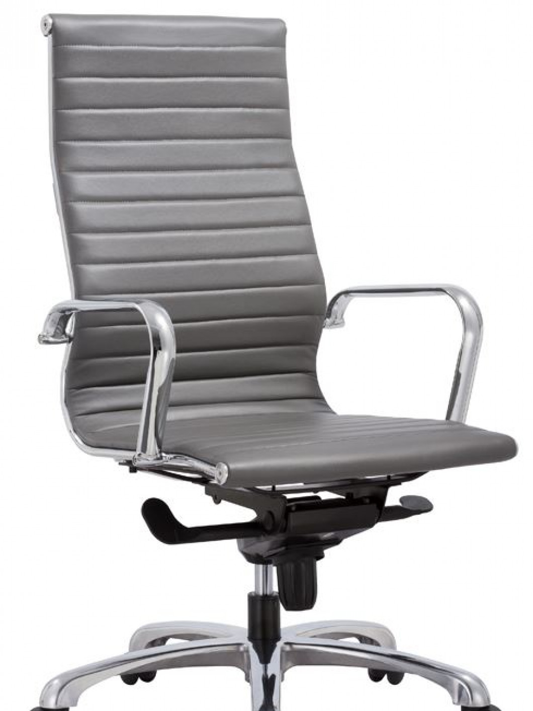 Nova High Back Desk Chair Grey Leather