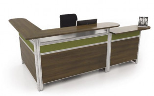 "Performance Laminate ""L"" shape Reception Desk"