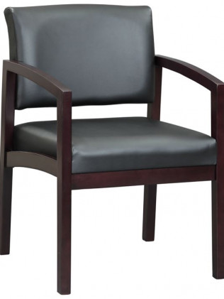 Redmond Wood and Leather Armchair